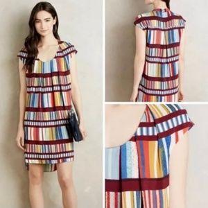 Maeve Multicolored Hi-Lo Sheath Dress Size 10